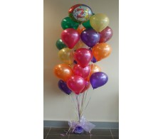 21st Balloon Display (21 Latex Balloon's and one Foil)