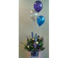 Box Arrangement and 3 Latex Balloons