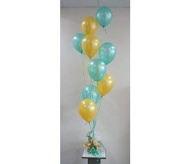 10 Latex Balloons and weight of Chocolates