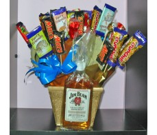 Chocolate Box with Jim Bean Bottle