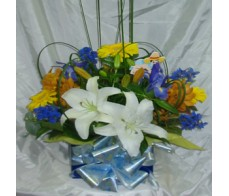 Baby Blue Box Arrangement