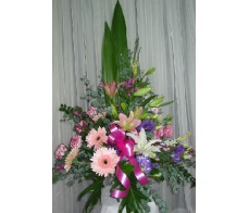Frontal Pink Baby Arrangement
