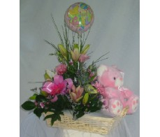 Baby Girl Basket Display