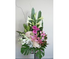 Pink and White Baby Arrangement