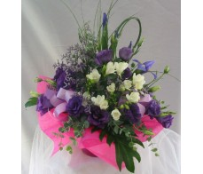 Purple and White Box Arrangement