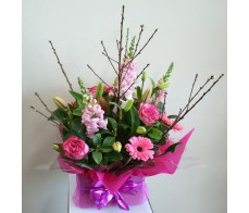 Pink Blossom Box Arrangement