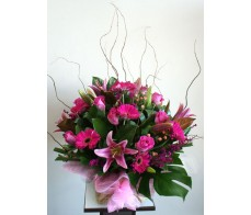 Exquisite Pink Box Arrangement