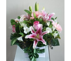 Seasonal Pastel Box Arrangement