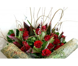 Bling Bling Red Rose Bouquet