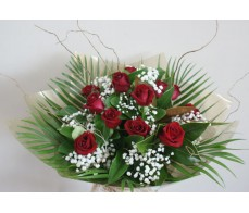 12 Long Stem Red Rose Bouquet