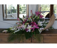 Lily Husk Arrangement