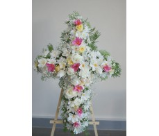 Lemon Pink and White Cross