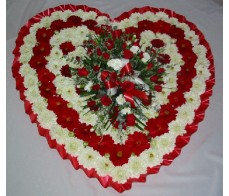 Designer Red and White Solid Heart