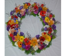 Bright Mixed Wreath