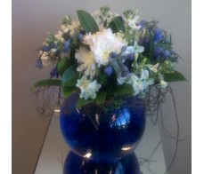 Blue and White Fishbowl