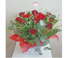 15 Red Roses Mini Box Arrangement