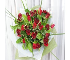 30 Medium Red Roses- Bouquet