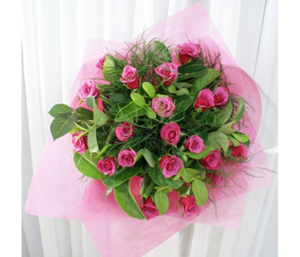 20 Pink Rose's - Bouquet