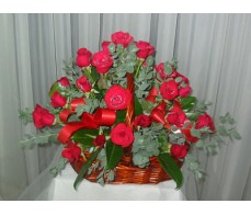 36 Red Rose's - Basket Arrangement