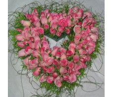 Love Heart of Pink Roses